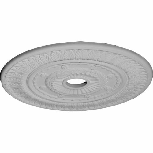Boston decorative medallion for ceiling comes factory primed and is suitable for painting, glazing or faux finish. This ceiling medallion giving you look and feel of plaster while it is much easier to install than plaster or gypsum due to the weight, dimensional stability, precise tolerances and flexibility.