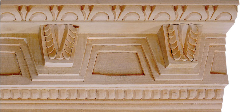 Elizabeth Carved Crown Molding - bass wood