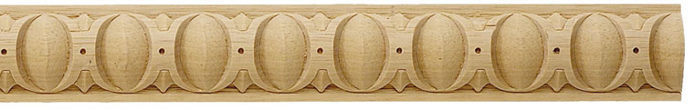 Altoona Egg-and-Dart Carved Wood Panel Molding