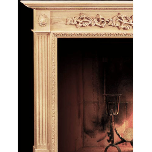 Classic gracious design of the Sacramento fireplace mantels speaks gently of understated elegance and undeniable refinement