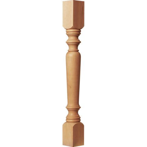 Classical kitchen island legs are hand-crafted from premium selected hardwood