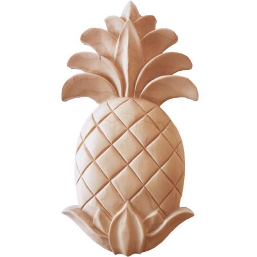 Pineapple wood carving is hand crafted from premium selected North American hard maple