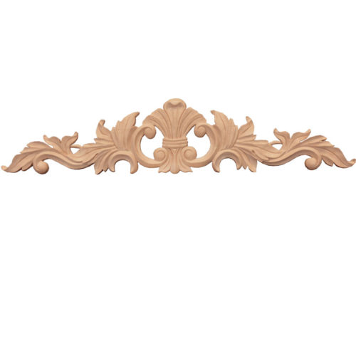 Los Angeles wood onlays feature carved in deep relief leaf motif with elegant leaf scrolls