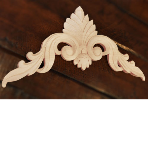 Beloit wood carvings have a very versatile design. Carvings can be incorporated in composition as a central element and can be used to create an ornamental corners as well