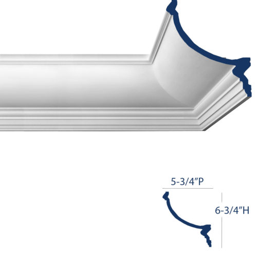 crown molding for indirect lighting available at InvitingHome.com