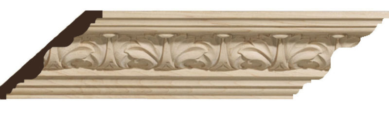 Acanthus Leaf Carved Wood Molding
