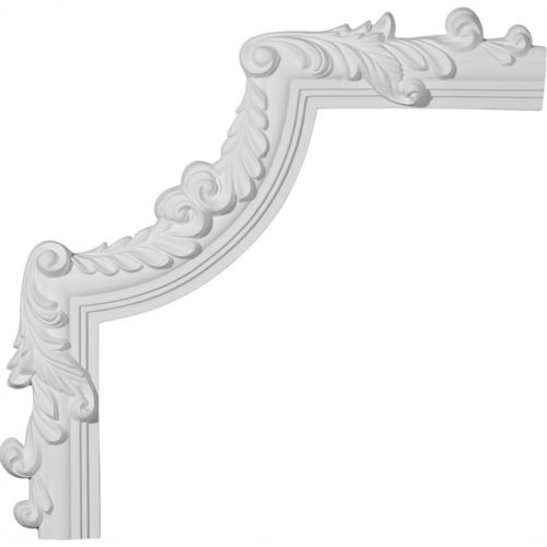 Bradenton panel molding with decorative corners for wall and ceiling application