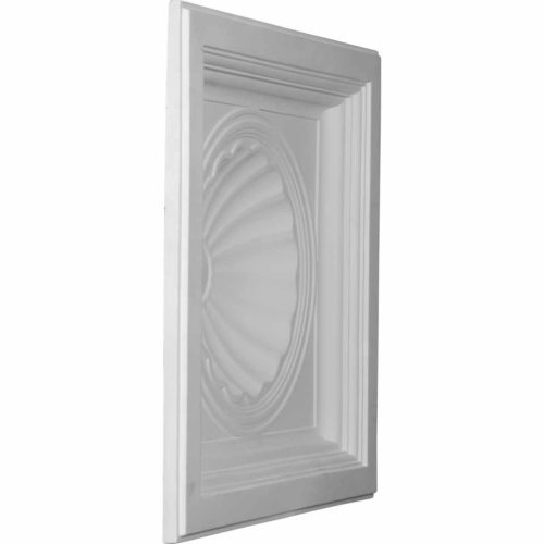 The sea shell ceiling tile is modeled after an original historical pattern and design.