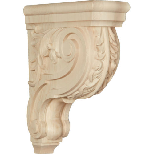 Enjoy the warmth and beauty of the simple Acanthus wood bracket.