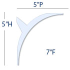 Lighting Cove Molding profile dimensions